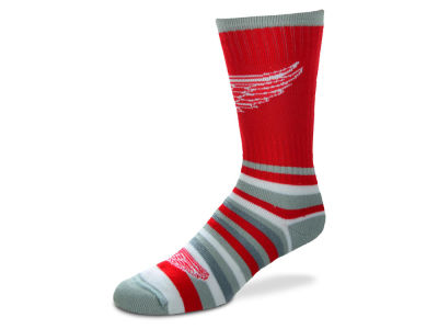 Detroit Red Wings For Bare Feet Lotta Stripe Crew Sock