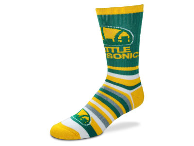 Seattle SuperSonics For Bare Feet Lotta Stripe Crew Sock