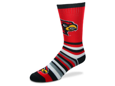 Louisville Cardinals Lotta Stripe Crew Sock