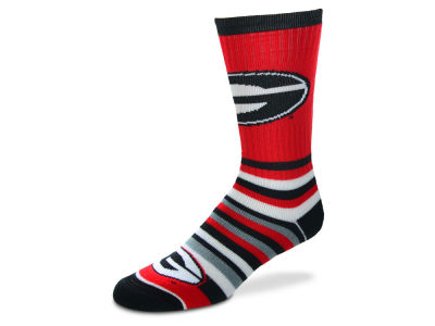 Georgia Bulldogs For Bare Feet Lotta Stripe Crew Sock