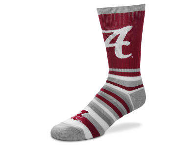 Alabama Crimson Tide Lotta Stripe Crew Sock