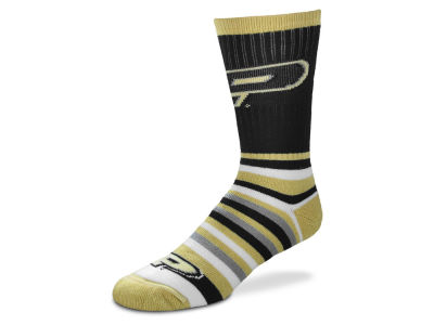 Purdue Boilermakers For Bare Feet Lotta Stripe Crew Sock