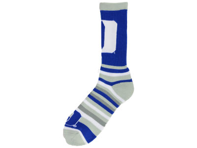 Duke Blue Devils For Bare Feet Lotta Stripe Crew Sock