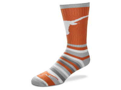 Texas Longhorns For Bare Feet Lotta Stripe Crew Sock