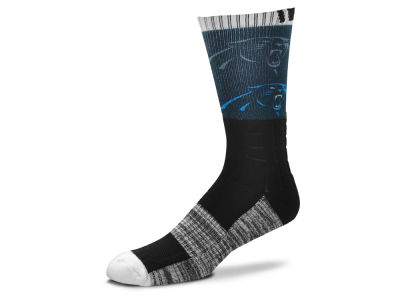 Carolina Panthers For Bare Feet Blackout Crew Socks