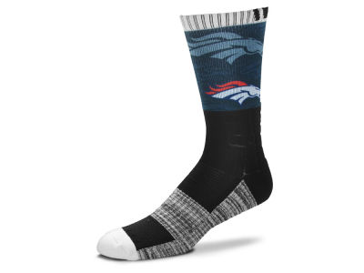 Denver Broncos For Bare Feet Blackout Crew Socks