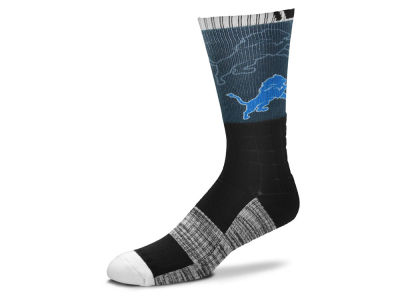 Detroit Lions For Bare Feet Blackout Crew Socks