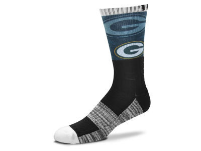 Green Bay Packers For Bare Feet Blackout Crew Socks