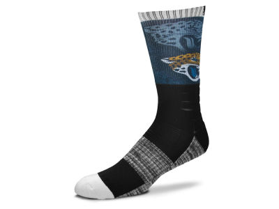 Jacksonville Jaguars For Bare Feet Blackout Crew Socks