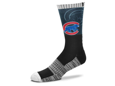 Chicago Cubs For Bare Feet Blackout Crew Socks