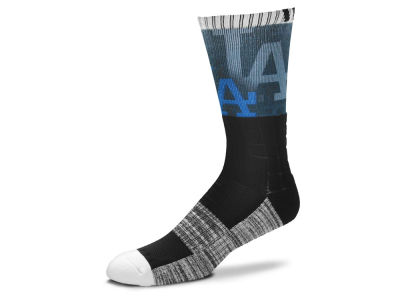 Los Angeles Dodgers For Bare Feet Blackout Crew Socks