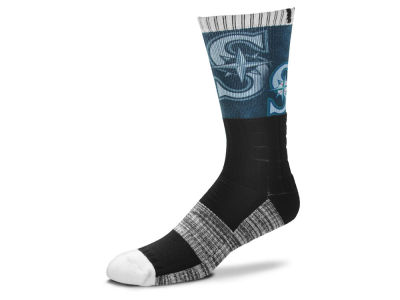 Seattle Mariners For Bare Feet Blackout Crew Socks