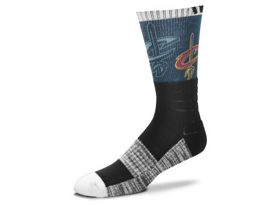 Cleveland Cavaliers For Bare Feet Blackout Crew Socks
