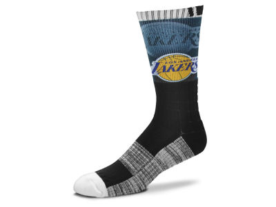 Los Angeles Lakers For Bare Feet Blackout Crew Socks