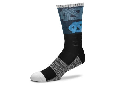 North Carolina Tar Heels For Bare Feet Blackout Crew Socks
