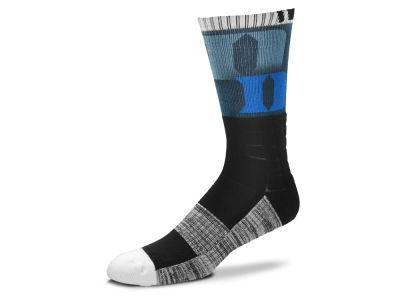 Duke Blue Devils For Bare Feet Blackout Crew Socks