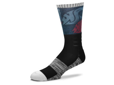 Washington State Cougars For Bare Feet Blackout Crew Socks