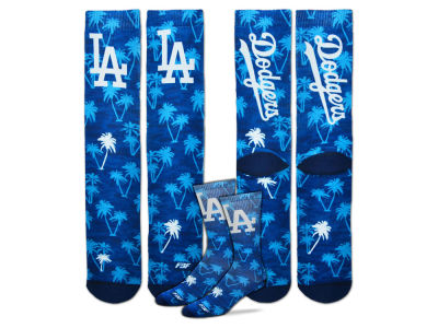 Los Angeles Dodgers For Bare Feet Bananas Crew Socks