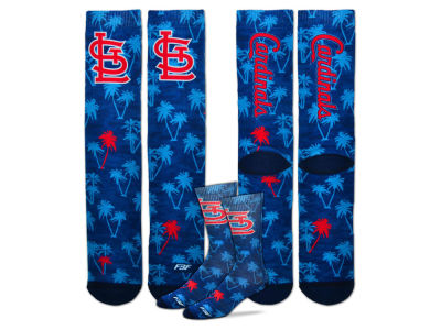 St. Louis Cardinals For Bare Feet Bananas Crew Socks