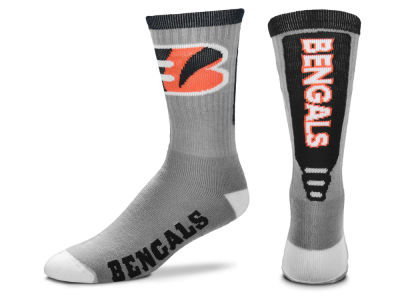 Cincinnati Bengals Cool Grey Jump Key Crew Sock