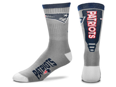 New England Patriots Cool Grey Jump Key Crew Sock