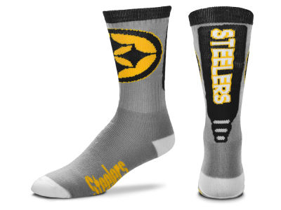 Pittsburgh Steelers Cool Grey Jump Key Crew Sock