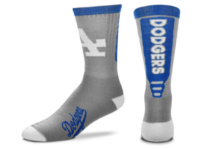 Los Angeles Dodgers For Bare Feet Cool Grey Jump Key Crew Sock