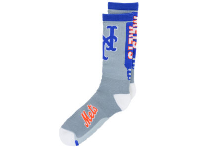 New York Mets For Bare Feet Cool Grey Jump Key Crew Sock