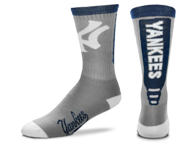 New York Yankees Cool Grey Jump Key Crew Sock