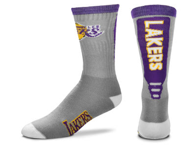 Los Angeles Lakers Cool Grey Jump Key Crew Sock