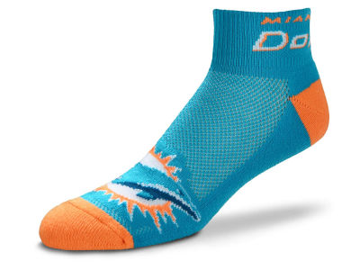 Miami Dolphins For Bare Feet The Cuff Ankle Socks