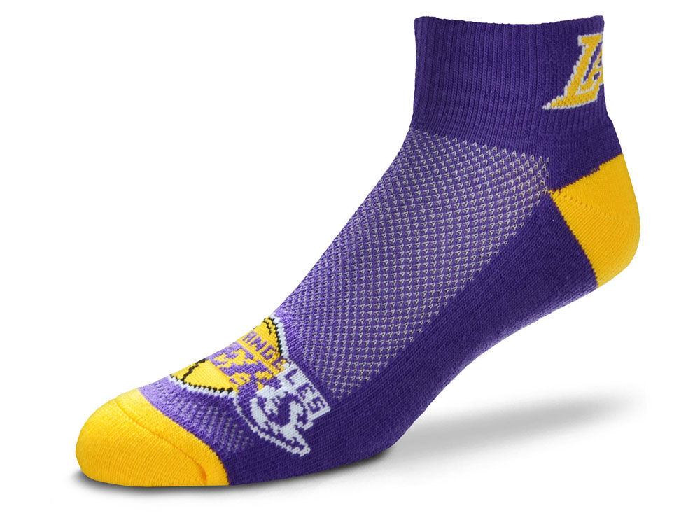 Los Angeles Lakers For Bare Feet The Cuff Ankle Socks  139b65f20