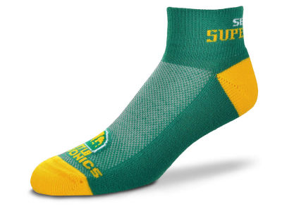 Seattle SuperSonics For Bare Feet The Cuff Ankle Socks