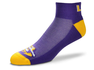 LSU Tigers For Bare Feet The Cuff Ankle Socks
