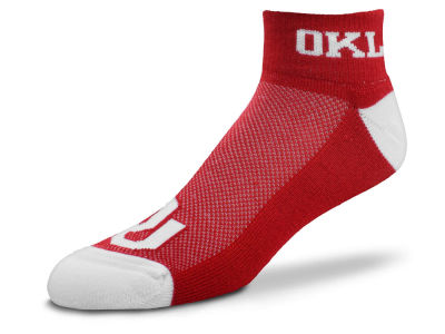 Oklahoma Sooners For Bare Feet The Cuff Ankle Socks