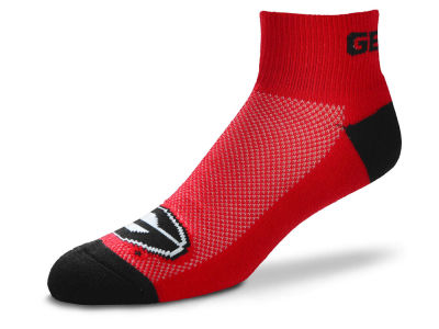 Georgia Bulldogs For Bare Feet The Cuff Ankle Socks