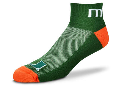 Miami Hurricanes For Bare Feet The Cuff Ankle Socks