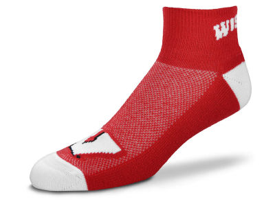 Wisconsin Badgers For Bare Feet The Cuff Ankle Socks