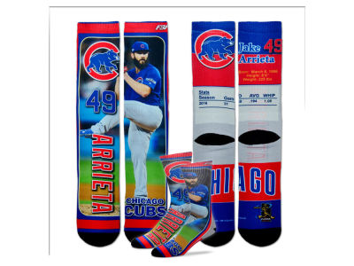 Chicago Cubs Jake Arrieta For Bare Feet MLB Trading Card Player Crew Socks
