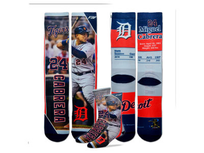 Detroit Tigers Miguel Cabrera MLB Trading Card Player Crew Socks