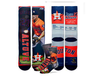 Houston Astros Jose Altuve MLB Trading Card Player Crew Socks
