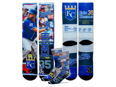 Kansas City Royals Eric Hosmer For Bare Feet MLB Trading Card Player Crew Socks