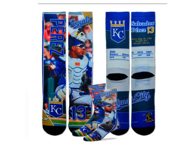 Kansas City Royals Salvador Perez MLB Trading Card Player Crew Socks