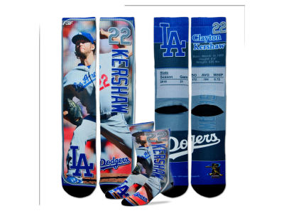 Los Angeles Dodgers Clayton Kershaw MLB Trading Card Player Crew Socks