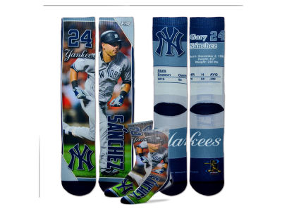 New York Yankees Gary Sanchez MLB Trading Card Player Crew Socks