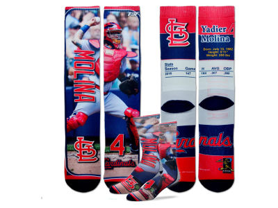 St. Louis Cardinals Yadier Molina MLB Trading Card Player Crew Socks