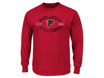 Atlanta Falcons NFL Men's Print Logo Long Sleeve T-Shirt