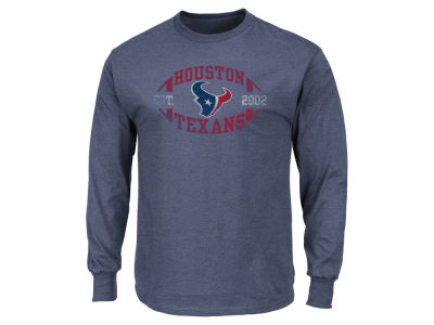 Houston Texans AC DC NFL Men's Print Logo Long Sleeve T-Shirt