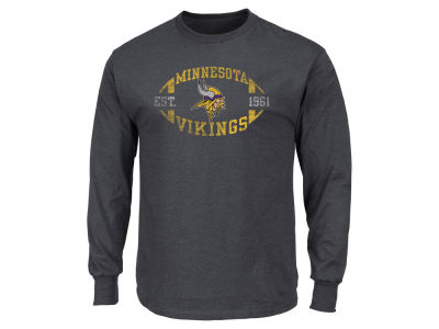 Minnesota Vikings AC DC NFL Men's Print Logo Long Sleeve T-Shirt