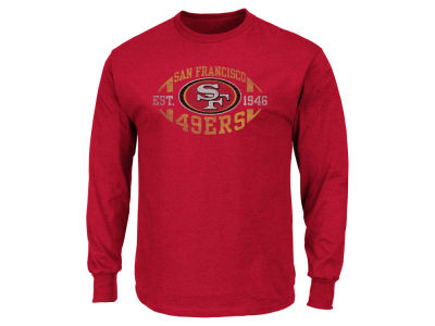 San Francisco 49ers AC DC NFL Men's Print Logo Long Sleeve T-Shirt